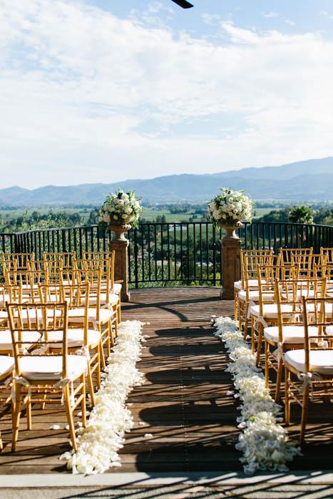 luxury wine country wedding at Auberge Du Soleil designed by Napa Wedding Planner Tamara J Events