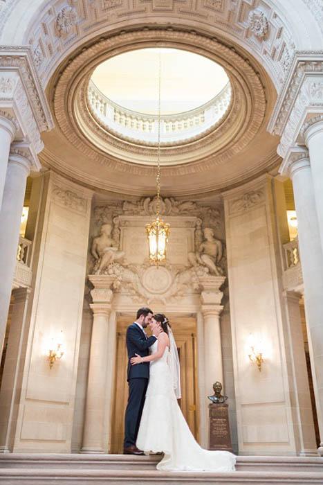 San Francisco City Hall Wedding Blue and Coral Tamara J Events